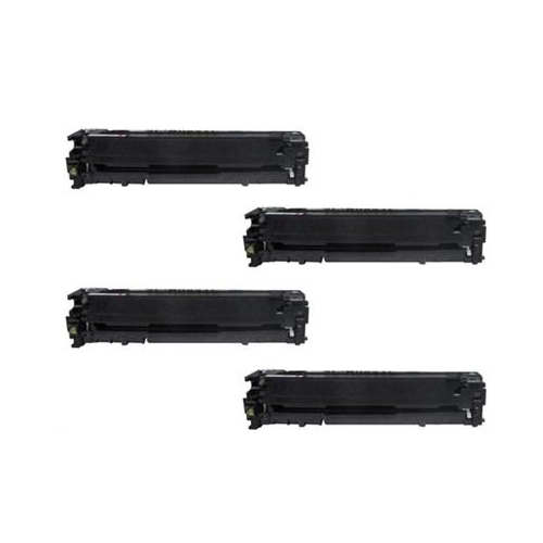 Compatible HP 125A (CB540A - CB541A - CB542A - CB543A)  Toner Cartridge 4PK
