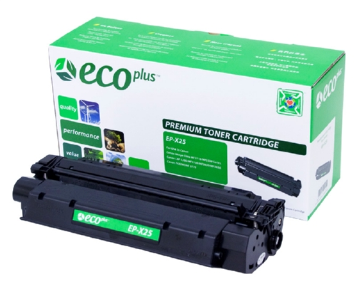 EcoPlus Black Copier Toner compatible with the Canon X25 8489A001AA 2500 page yield
