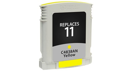 Compatible Premium Brand HP C4838AN HP 11 Yellow Inkjet Cartridge