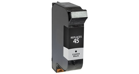 Black Inkjet Cartridge compatible with the HP (HP45) 51645A