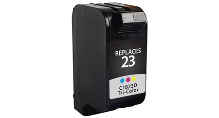 Color Inkjet Cartridge compatible with the HP (HP23) C1823D