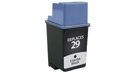 Black Inkjet Cartridge compatible with the HP (HP29) 51629A