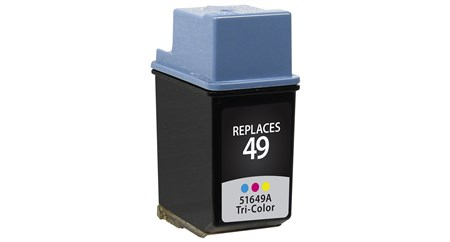 Compatible Premium Brand HP 51649A HP 49 Tri-Color Inkjet Cartridge