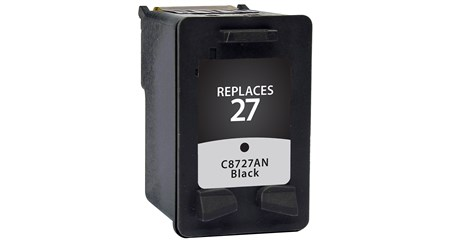 Compatible Premium Brand HP C8727AN HP 27 Black Inkjet Cartridge