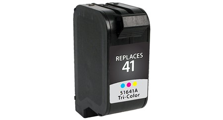 Tri-Color Inkjet Cartridge compatible with the HP (HP41) 51641A