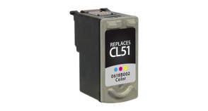 High CapacityTri-Color Inkjet Cartridge compatible with the Canon (CL-51) 0618B002