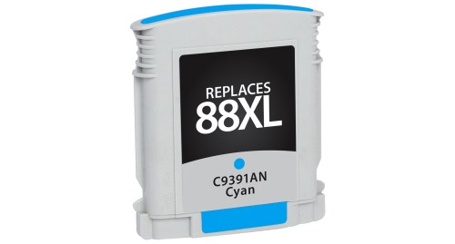 Compatible Premium Brand HP C9391AN HP 88XL High Capacity Cyan Inkjet Cartridge