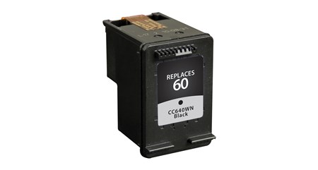 Compatible Premium Brand HP CC640WN HP 60 Black Inkjet Cartridge