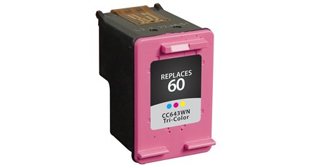 Compatible Premium Brand HP CC643WN HP 60 Tri-color Inkjet Cartridge