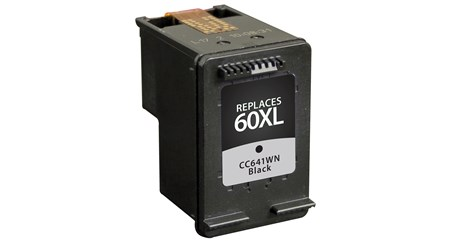 Compatible Premium Brand HP CC641WN HP 60XL High Capacity Black Inkjet Cartridge