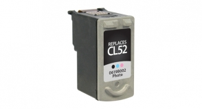 High Capacity Tri-Color Inkjet Cartridge compatible with the Canon CL-52 0619B002