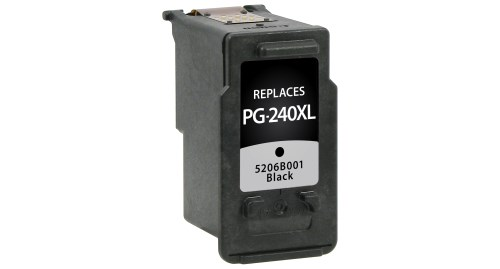 Compatible Premium Brand Canon PG-240, PG-240XL, 5204B001, 5206B001 Black Inkjet Cartridge