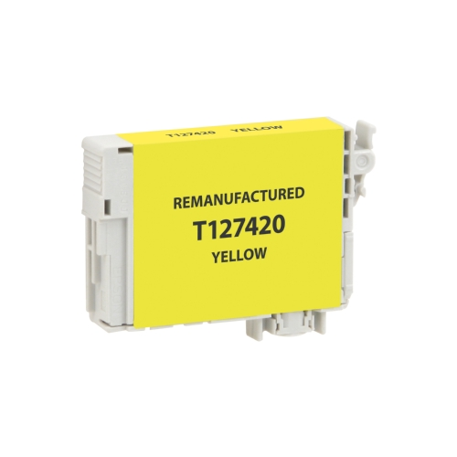 Epson 127 (T127420) Remanufactured Yellow Extra High-Yield Ink Cartridge