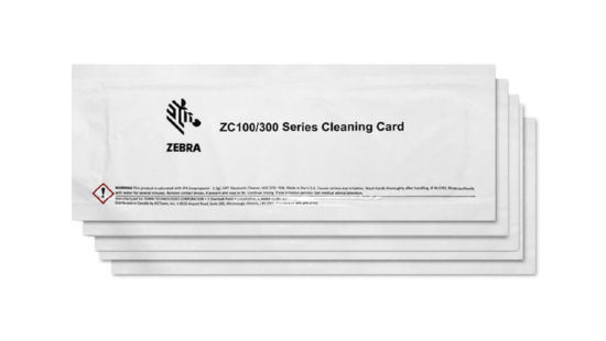 Zebra 105999-311  ZC 100/300 Cleaning Card Kit (5 Cards)