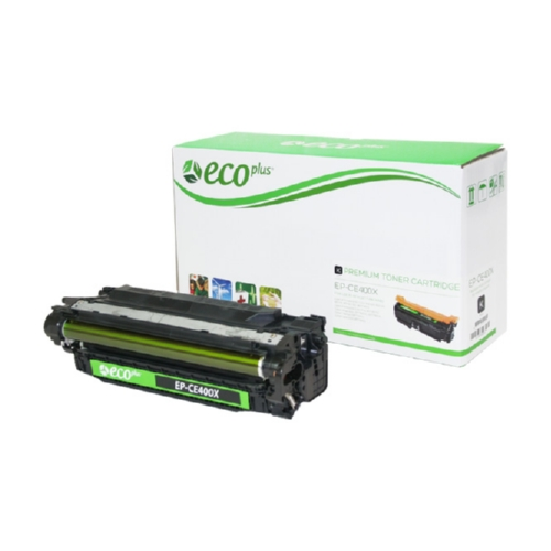 Black Toner Cartridge Remanufactured with the HP CE400X