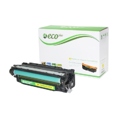 Yellow Toner Cartridge Remanufactured with the HP CE402A
