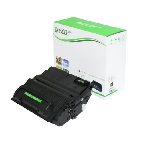 EcoPlus Black Toner Cartridge compatible with the HP (HP42A)(HP38A) Q5942A/Q1338A Universal