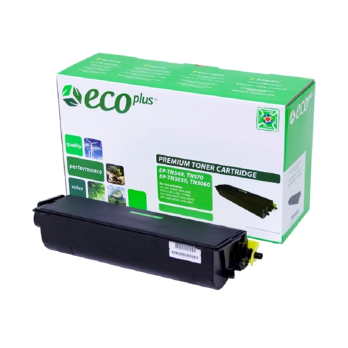 EcoPlus Black Toner Cartridge compatible with the Brother TN570
