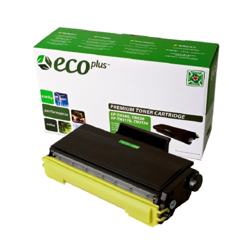 EcoPlus Black Toner Cartridge compatible with the Brother TN550