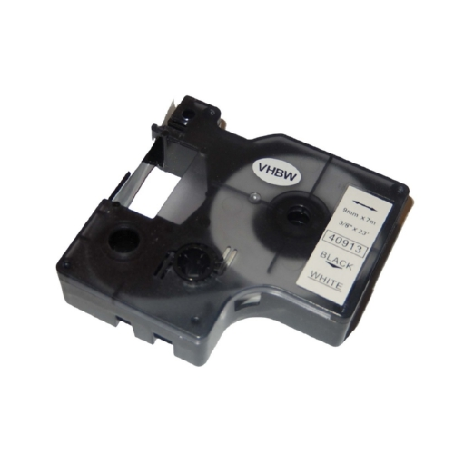 DYMO 40913 Label Machine Tape, 3/8, Black on White