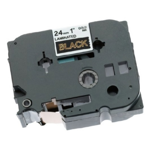 Brother TZe354 Compatible Gold On Black P-Touch Label Tape