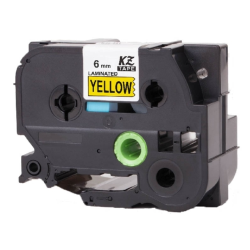 Brother TZe611 Compatible Black On Yellow P-Touch Label Tape