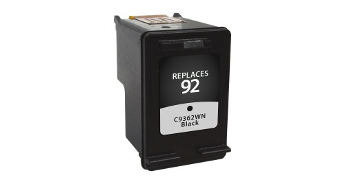 Black Inkjet Cartridge compatible with the HP (HP92) C9362WN