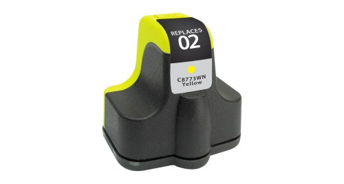 Compatible Premium Brand HP C8773WN HP 02 Yellow Inkjet Cartridge