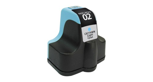 Compatible Premium Brand HP C8774WN HP 02 Light Cyan Inkjet Cartridge