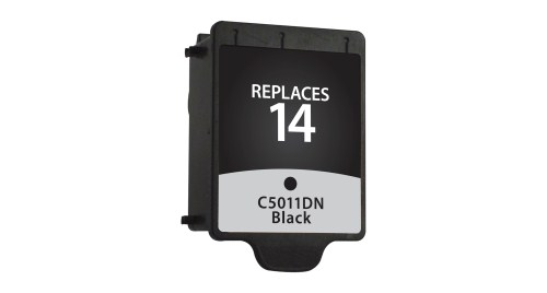 Black Inkjet Cartridge compatible with the HP (HP14) C5011DN