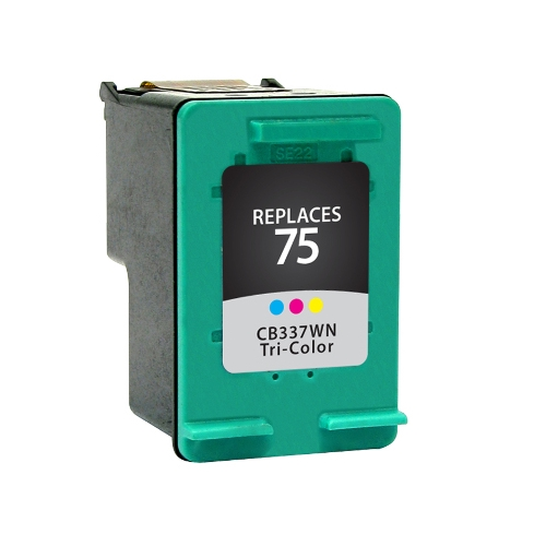 Compatible Premium Brand HP CB337WN HP 75 Tri-Color Inkjet Cartridge