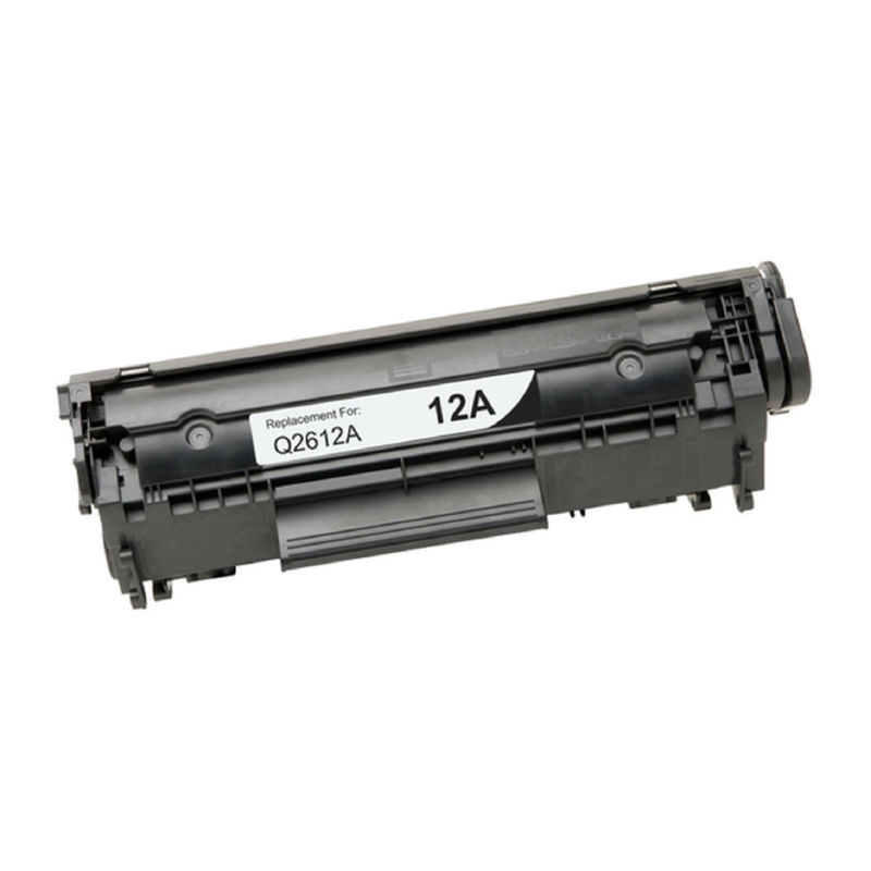 Compatible Premium Brand HP Q2612A HP 12A Black Toner Cartridge - Page Yield: 2000 @5%